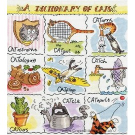 A Dictionary Of Cats Cross Stitch Kit from Bothy Threads