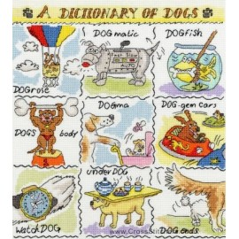 A Dictionary Of Dogs Cross Stitch Kit from Bothy Threads