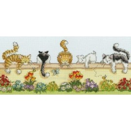Lazy Cats Cross Stitch Kit From Bothy Threads