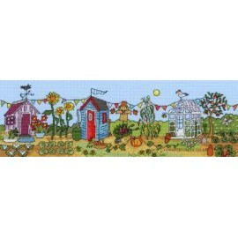 Allotment Fun - Counted Cross Stitch Kit from Bothy Threads